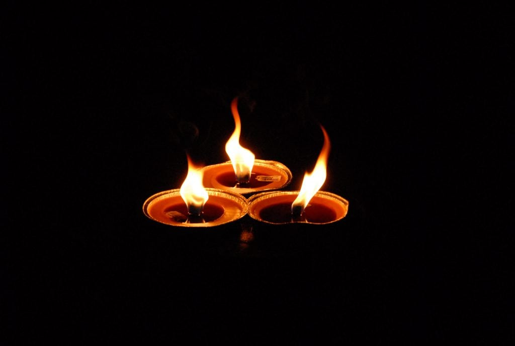 llamas de las velas