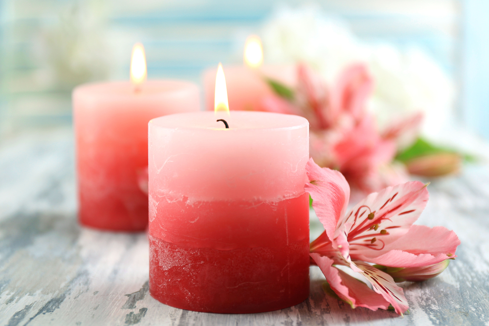 significado de las velas rosas