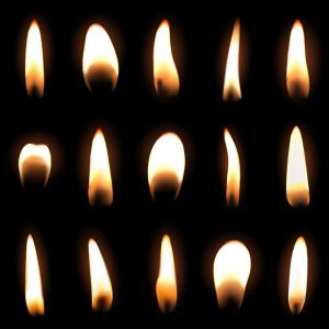 significado de las llamas de las velas