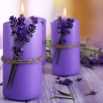 velas purpuras