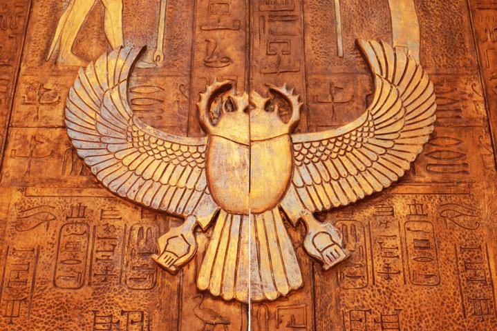 escarabajo egipcio amuleto