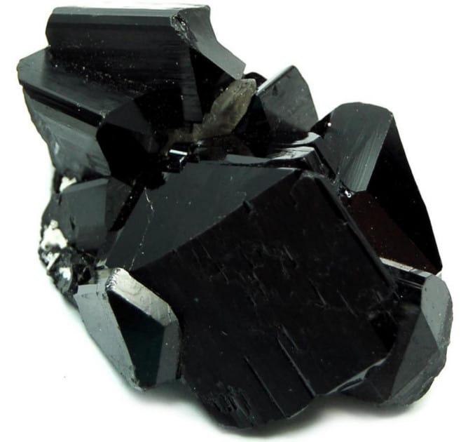 Bloque de piedra de turmalina negra
