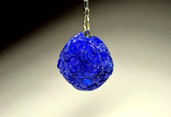 Colgante azurita azul